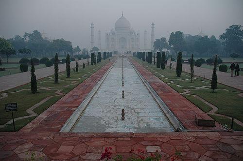 The Taj Choking in Early Morning Smog