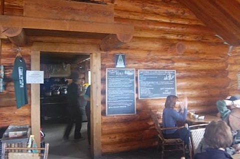 Lake Agnes Tea House inside