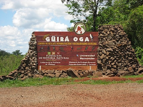 Guira Oga entrance sign