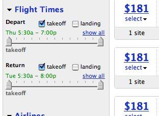 flight times