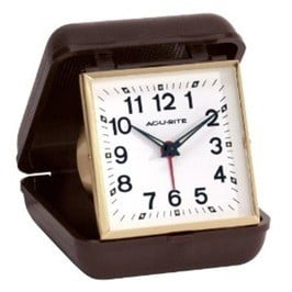 Analog travel alarm clock