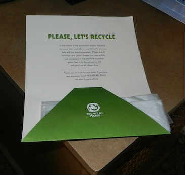 Disney recycle efforts letter