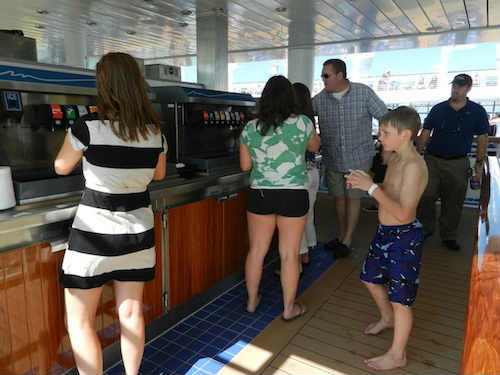 Disney Fantasy refillable drink station