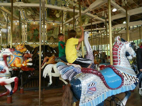 carousel at children's playground