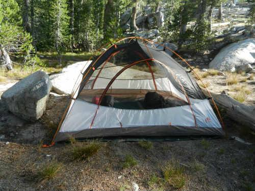 Hiking the John Muir Trail camping in Yosemite