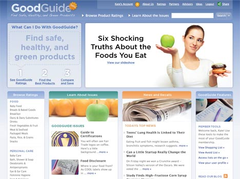 Best Eco Apps - GoodGuide Food Rating Top Eco App