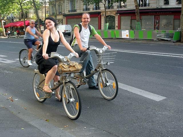 People enjoy riding their bikes