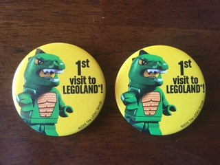 Legoland pin badge