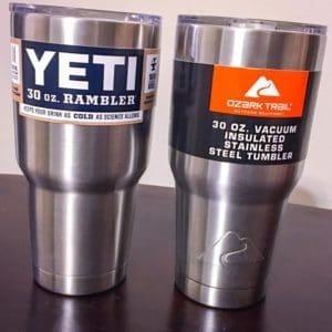 Yeti Tumbler vs Ozark Trail Tumbler