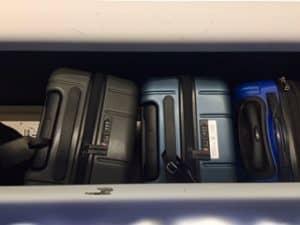 Chester Minima in overhead compartment