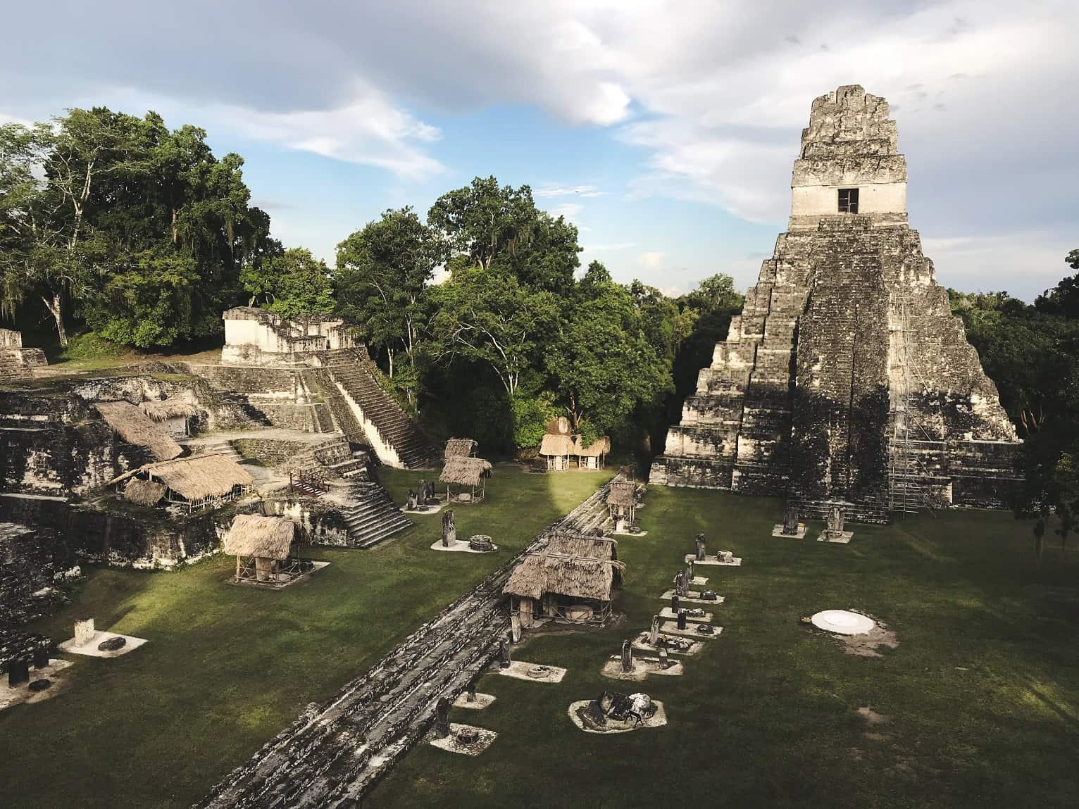 Tikal Mayan Ruin view